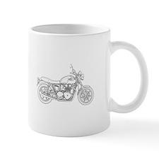Vintage Triumph Motorcycle Small Small Mug