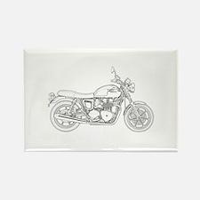 Vintage Triumph Motorcycle Rectangle Magnet