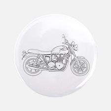 """Vintage Triumph Motorcycle 3.5"""" Button"""