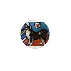 FINNISH LAPPHUND moon art Mini Button (100 pack)