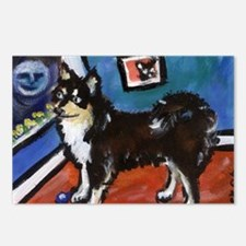 FINNISH LAPPHUND moon art Postcards (Package of 8)