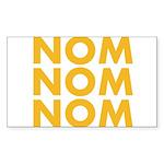 Nom Nom Nom Sticker (Rectangle 50 pk)