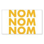 Nom Nom Nom Sticker (Rectangle 10 pk)