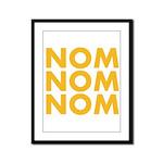 Nom Nom Nom Framed Panel Print