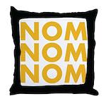 Nom Nom Nom Throw Pillow