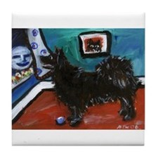 SWEDISH LAPPHUND whimsical do Tile Coaster