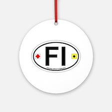 Fenwick Island DE - Oval Design Ornament (Round)