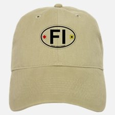 Fenwick Island DE - Oval Design Baseball Baseball Cap