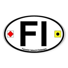 Fenwick Island DE - Oval Design Decal