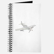 WW2 P-51 Mustang Air Plane Journal