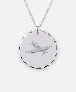 WW2 P-51 Mustang Air Plane Necklace