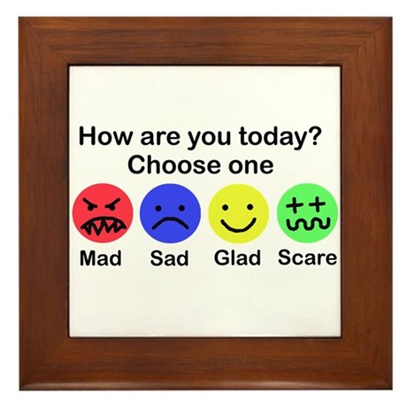 Mad,Sad,Glad & Scare Framed Tile