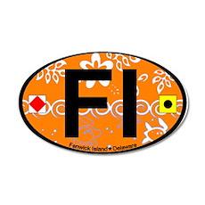 Fenwick Island DE - Oval Design 22x14 Oval Wall Pe