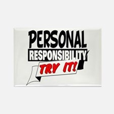 Personal Responsibility Rectangle Magnet
