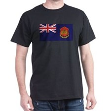 Gibraltar Government Ensign Black T-Shirt
