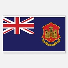 Gibraltar Government Ensign Rectangle Decal