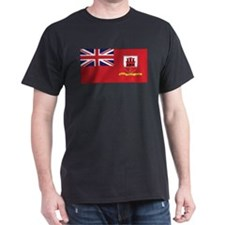 Gibraltar Civil Ensign Black T-Shirt