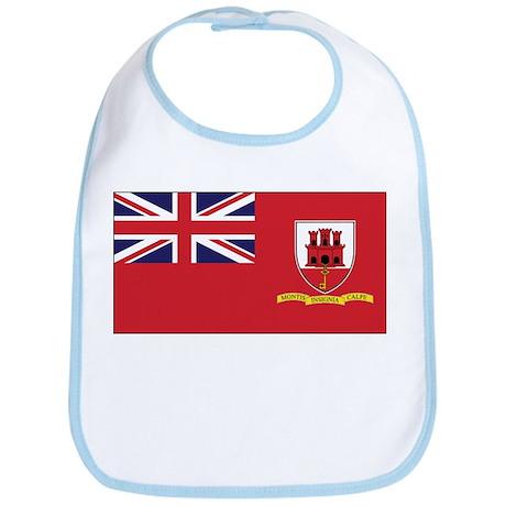 Gibraltar Civil Ensign Bib