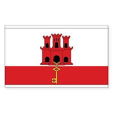Gibraltar Flag Rectangle Decal