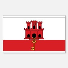 Gibraltar Flag Rectangle Decal
