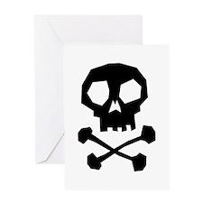 Skull Cross Bones Greeting Card