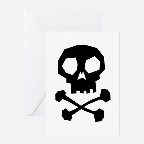Skull Cross Bones Greeting Card