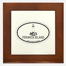 Fenwick Island DE - Oval Design Framed Tile