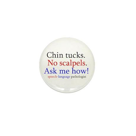Chin Tucks Mini Button