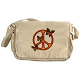 Peace butterfly Messenger Bags & Laptop Bags