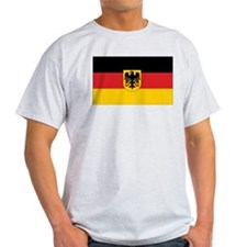 Germany State Flag Ash Grey T-Shirt