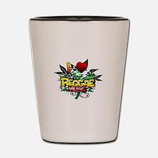 I Heart Reggae Music Shot Glass