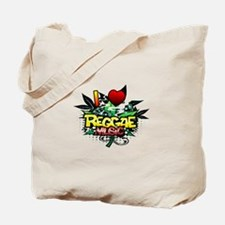 I Heart Reggae Music Tote Bag
