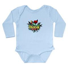 I Heart Reggae Music Long Sleeve Infant Bodysuit