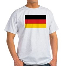 Germany Flag Ash Grey T-Shirt