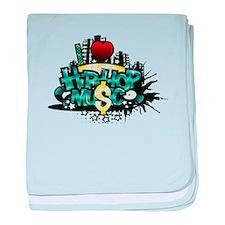 I Heart Hip Hop Music baby blanket