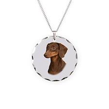 Dachshund 9Y420D-379 Necklace Circle Charm