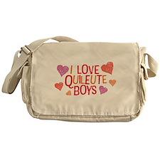 I Love Quileute Boys Messenger Bag