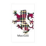 Lion - MacGill Sticker (Rectangle 10 pk)