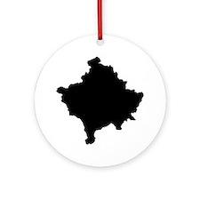 Kosovo Map Ornament (Round)
