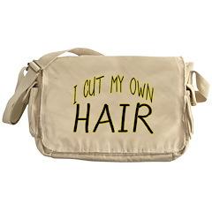 Hair Cut Messenger Bag
