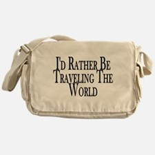 Rather Travel The World Messenger Bag