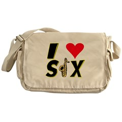 I Love Sax Messenger Bag