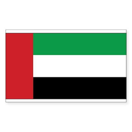 Fujairah Flag Rectangle Sticker