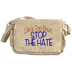 Life Is Too Short Messenger Bag