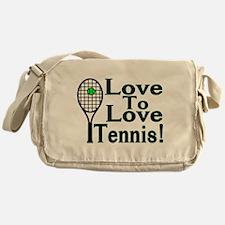 Love To Love Tennis Messenger Bag