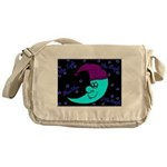 Sleepy Moonlight Messenger Bag