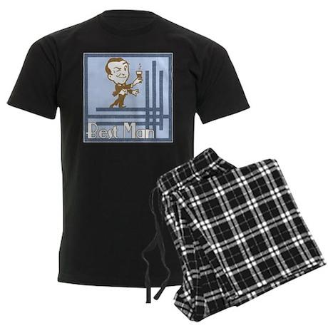 Art Deco Best Man Men's Dark Pajamas
