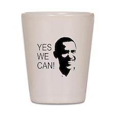 Obama's Face: Shot Glass