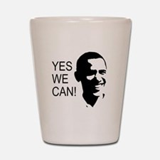 Obama's Face: Shot Glass