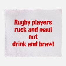 Ruck and maul Throw Blanket